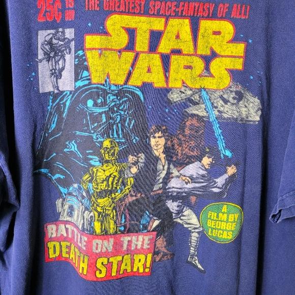 Star Wars Original Comic Theme Men's 2XL T-Shirt